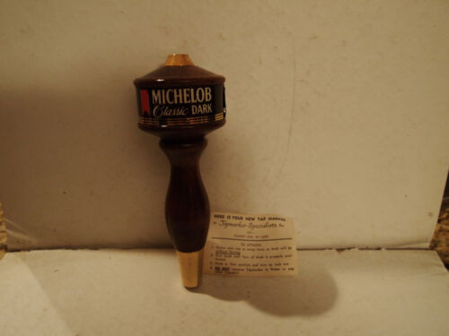 NEW CONDITION Michelob Classic Dark Wooden Beer Tap Handle