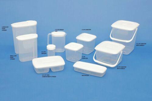 Multi Purpose Plastic Container Food Storage Freezer Cake Tub Box Airtight Lid