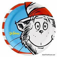 Cat in the Hat Dr Seuss Party PLATES LUNCH Birthday Decoration Supplies 8PC NEW