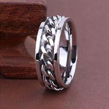 40 X mix spinner silber chain  Edelstahl  Ring herr damen Ringe