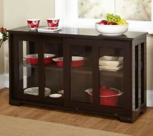 Details About Kitchen Buffet Cabinet Organizer Sideboard Wood Wine Dining China Storage Room