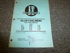 Allis Chalmers 175 180 185 190 190XT 210 220 D14 Tractor Flat Rate Manual AC22