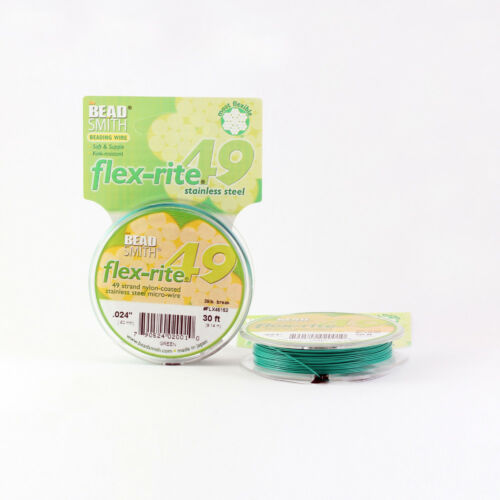 BeadSmith® Flex-Rite® 49 Strand Wire 9M Flexible Premium Quality Many Colors