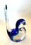 thumbnail 5 - Rubelli V.A. Murano Italy Art Glass Blue Bird Original Label 6 inches Tall
