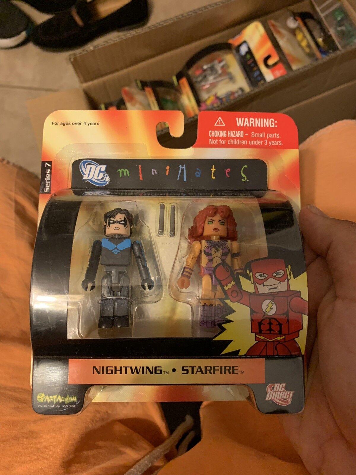 2007 DC Comics Minimates MOC Nightwing and Starfire Series 7 Figures