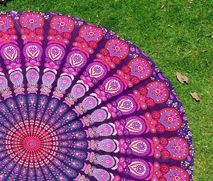 Indian-Mandala-Round-Wall-Hanging-Ethnic-Home-Decor-Beach-Sheet-Gypsy-Tapestry