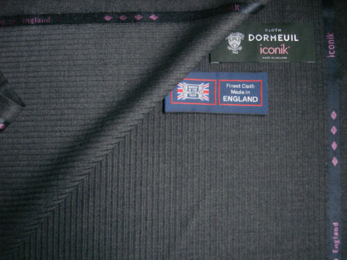 """DORMEUIL 100/% SUPER 120's WOOL SUITING FABRIC  """"iconik"""" MADE IN ENGLAND– 3.4m"""