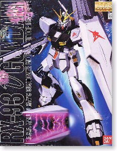 Bandai MG 1  100 Rx -93 Nu Gundam Maqueta de Pl 65533;65533;stico en Kit Char s Mostrador