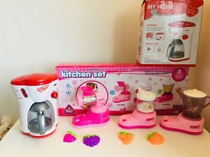 KITCHEN-TOYS-COFFEE-JUCER-BLENDER-CANDY-MAKER-PINK-CLOUR-WITH-LIGHT-AND-SOUND
