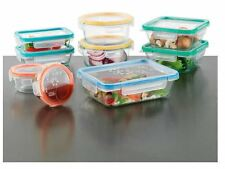 Snapware Total Solution Pyrex Glass Food Storage 18-Piece Set BPA Free Container