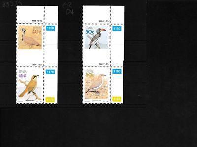 Namibia - Südwestafrika 629-632 Postfrisch Eckrandstücke Mit Ausgabedatum