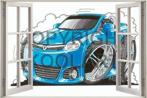 Huge-3D-Koolart-Window-view-Vauxhall-Tigra-Wall-Sticker-Poster-1928