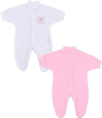BabyPrem Premature Baby Clothes 2 x Tiny Sleepsuits Babygrows Preemie 1lb-7.5lb