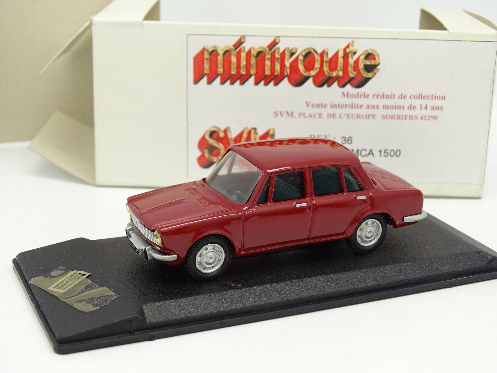 Miniroute Harz 1 43 - - - Simca 1500 red 666511