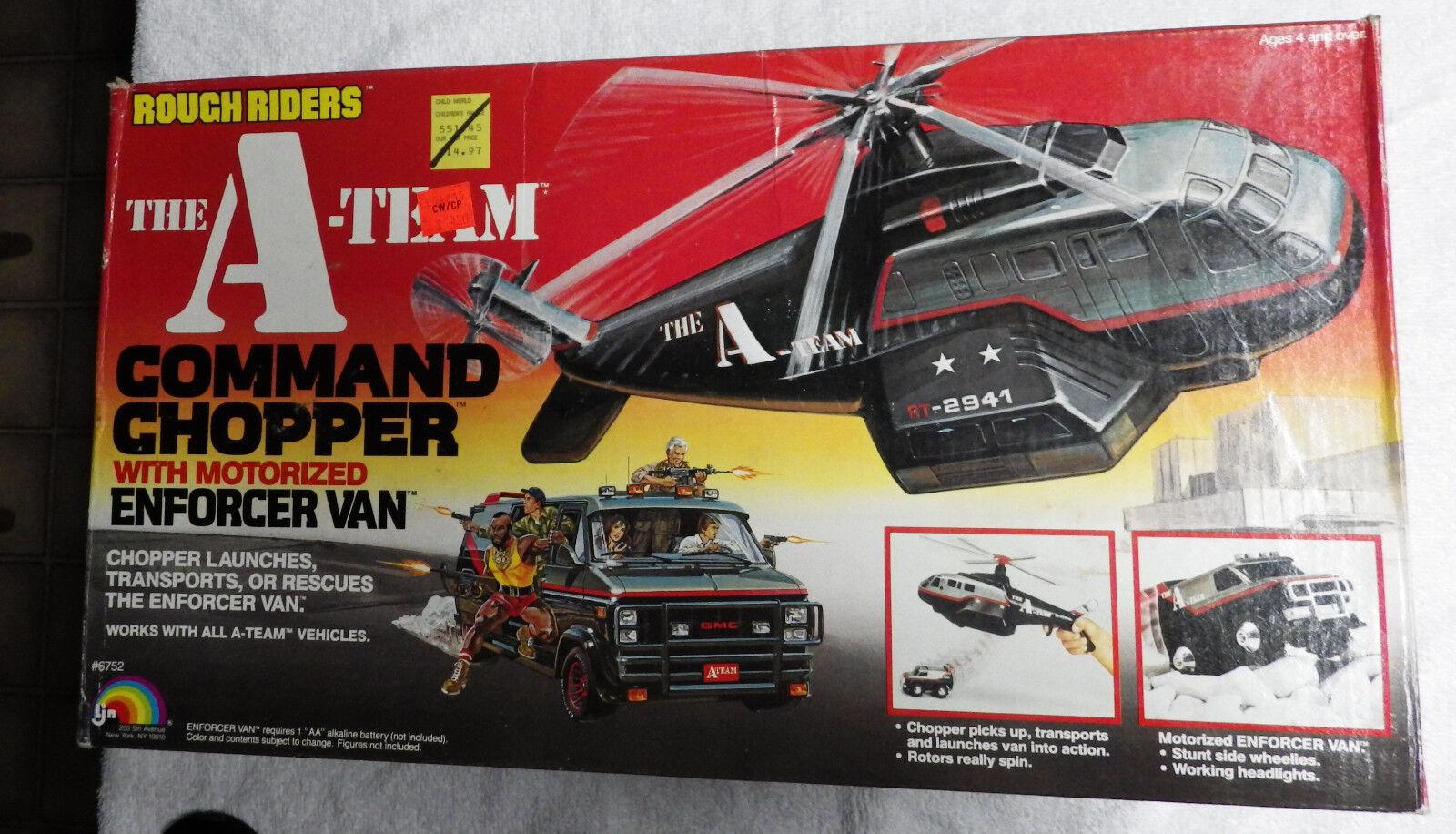 1983 LJN the A-TEAM Rough Riders COMMAND CHOPPER w  Enforcer Van playset MIB