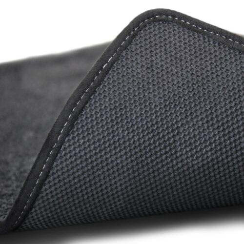 2007-2010 Escalade Base Model 4pc Black Carpet Floor Mats w Cadillac Crest Logo