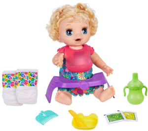 Baby-Alive-Happy-Hungry-Baby-Doll-Blonde-Curly-Hair-Kid-Toy-Gift