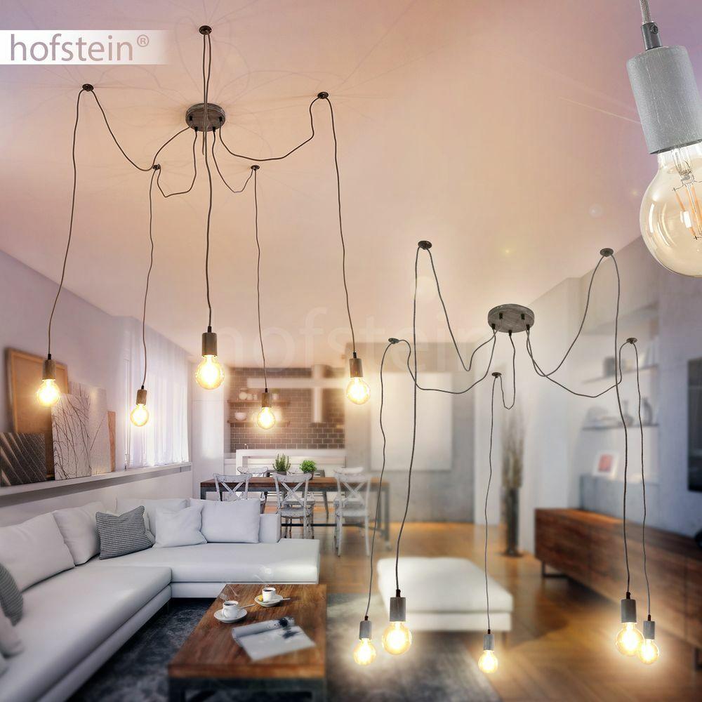 5-flammige Pendel Hänge Lampen modern Ess Wohn Zimmer Leuchte Vintage Retro