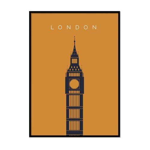 London Print Bigben Landmark Print A1 A5 Decor Travel Artwork Wall Art
