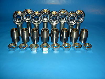 """Fits 1-1//4 x.095 Tubing Economy 4-Link Rod Ends Kit 3//4/"""" x 3//4/""""-16 Heim Joints"""