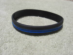 Thin-Blue-Line-Wristband-Bracelet-Band-Silicone-Thin-Blue-Line-Cops