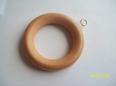 20 x Beech Wood//Wooden Curtain Rings 35mm NEW