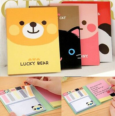Cute Animals Sticker Post It Bookmark Point It Marker Memo Flags Sticky Notes