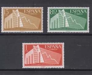 ESPANA-1956-NUEVO-MNH-SPAIN-EDIFIL-1196-98-Sc-853-55-ESTADISTICA
