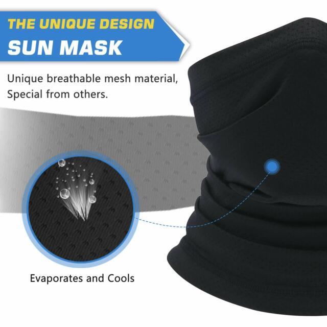 Tactical Grey Neck Fishing Shield Sun Gaiter Uv Headwear Cycle Mask hiking USA