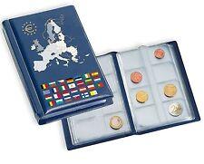 Münzen-Taschenalbum mit 12 Blättern für 12  Eurosätze mit Euroflaggenprägung