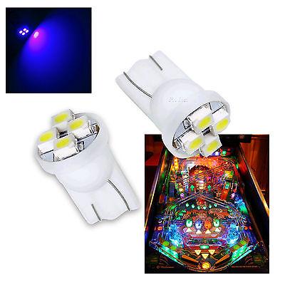 10x #555 T10 4SMD LED Pinball Machine Light Bulb Yellow Amber Orange 6.3VP3