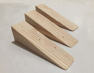Handmade Wooden Non Slip Door Stop Wedge Stopper for Home Office
