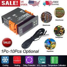 Mini Digital 110v Temp Controller Thermostat 58194 Fahrenheit Sensor 10a V5s3