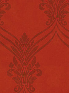 Rusty-Red-Chandelier-Swag-Damask-with-Flowing-Scroll-Wallpaper-SD25683