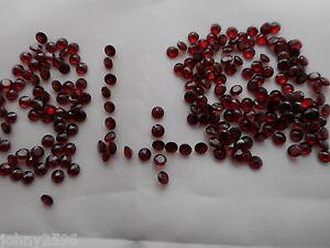 4 mm granates Corte Redondo 2 piedras para £ 1.30p