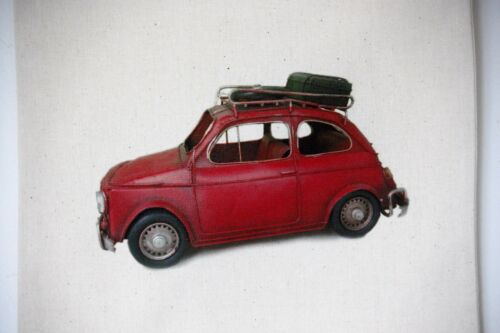 DIY CD Clock KIT of Fiat 500 in small canvas gift bag with Fiat 500 Motif