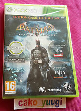 BATMAN ARKHAM ASYLUM EDITION GAME OF THE YEAR GOTY XBOX 360 NEUF 100% FRANCAIS