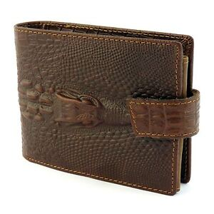 Mens-Dragon-Luxury-Quality-Leather-Wallet-Credit-Card-Holder-Purse-Brown-NEW-UK