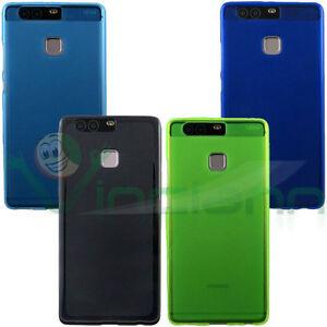 Custodia-cover-FLEXY-pr-Huawei-P9-case-TPU-morbida-flessibile-opaca-bordi-lucidi