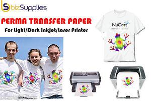 Heat transfer paper iron on transfer paper inkjet laser for Inkjet t shirt printing