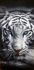 Beach towel Towel Bath Towel With Motif TIGER WHITE 100% Cotton ca.140 x 70