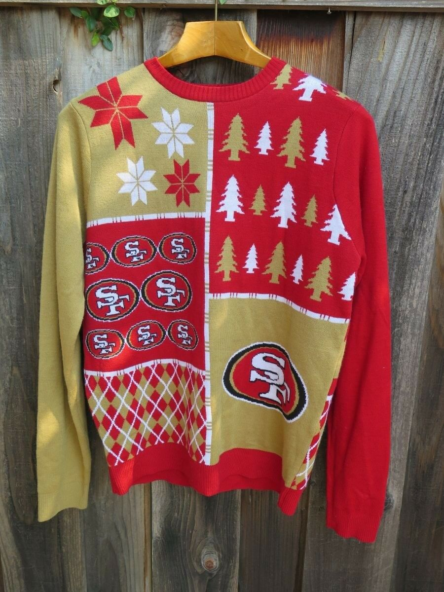 Mens NFL Team Apparel SF 49ers Ugly CHRISTMAS Sweater XL