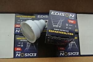 10 x Edison GU10 PAR16 STANDARD 54mm LENGTH cool white 7w CFL low energy bulb