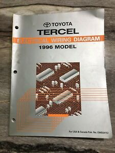 1996 Toyota Tercel Electrical Wiring Diagram Manual CX 1 ...
