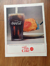 1964 Coke Coca-Cola Ad Gives Special Zing to Foods