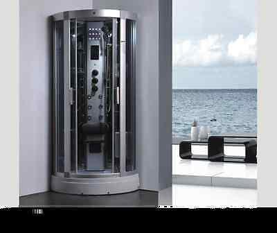 Design Deluxe Duschtempel Dampfdusche RUW521 95x95 cm Vollausstattung
