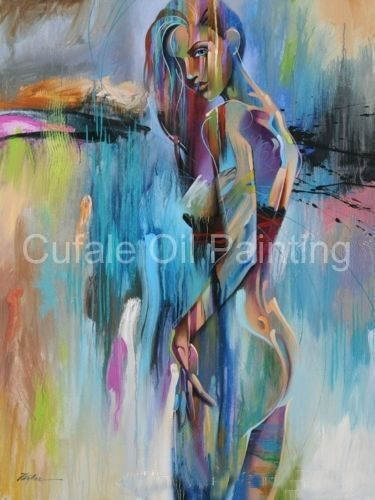 ZOPT209 huge 100/% handpainted abstract Portrait girl art OIL PAINTING ON CANVAS