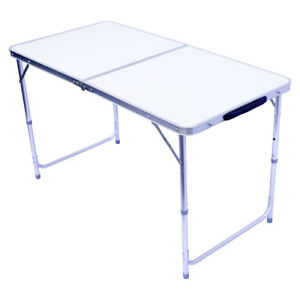 Détails sur Alu table de camping table 120x60cm base pliable table pliante  table de jardin aluminium falttisch- afficher le titre d\'origine