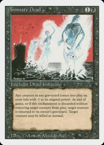 Magic the Gathering MTG Animate Dead LP-//LP 3rd Ed Edition Revised 7x Available