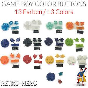 Nintendo-Game-Boy-Color-Buttons-GBC-Knoepfe-Druecker-Tasten-MOD-Pads-Knopf-Gummi